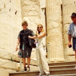 With Alicia Nash in Acropolis - A genuine lady!